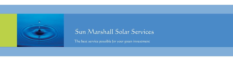 Sun Marshall Solar Services - The best service possible for your green investment